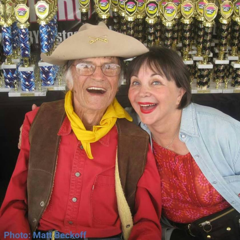 images Larry Storch with Cindy Williams